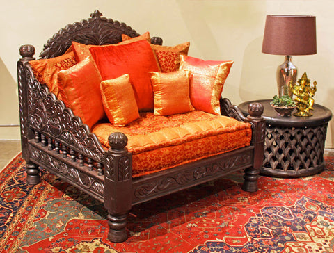 Indian Carved Jhula Single Chair