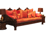 Indian Carved Jhula Sofa Daybed