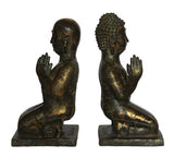 Gilt Bronze Praying Buddha Kneel Down