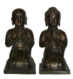 Sitting Brass Luhan monks