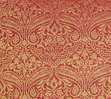 Red Paisley Sari Pillow Cover