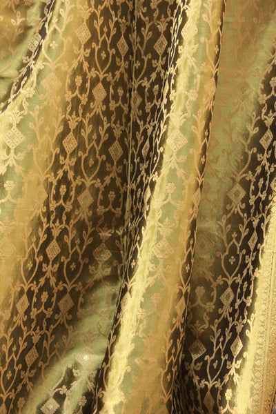 Indian Sari Fabric Olive Green Decorative Drapes Amp Window
