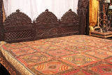 Multi-Colored Indian Bed Cover