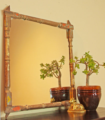 Mirror made from Vintage Railing Spindles