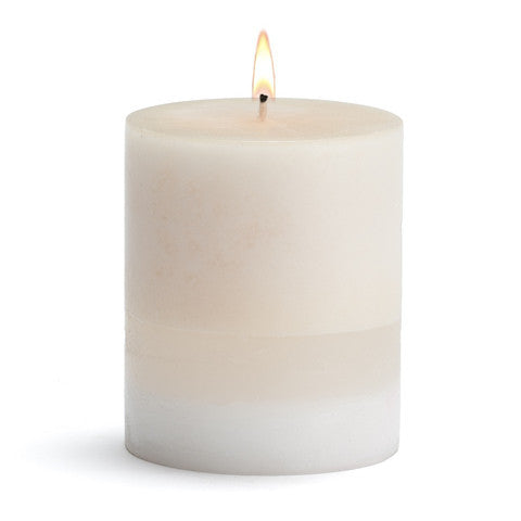 AMBER ROSE PILLAR CANDLE