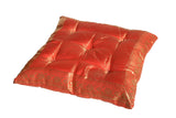 Red  raj Meditation Tufted Cushion