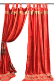 Indian Fabric Red Velvet Curtain