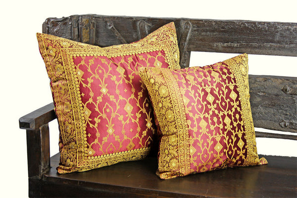 Decorative Indian Sari Pillow Cover Bedding Sofa Tara