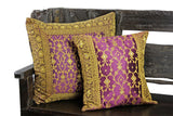 Indian pillows Cover Eggplant Kela Sari
