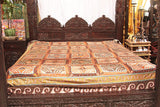 Brown and Yellow Indian Bed Cover