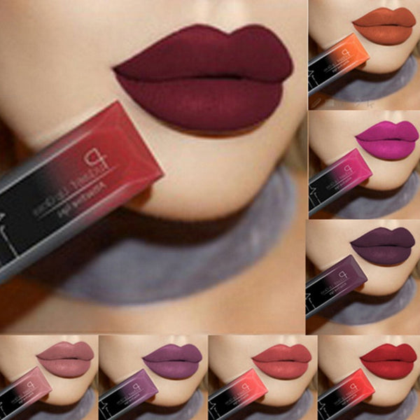 hot waterproof lip gloss matte liquid lipstick
