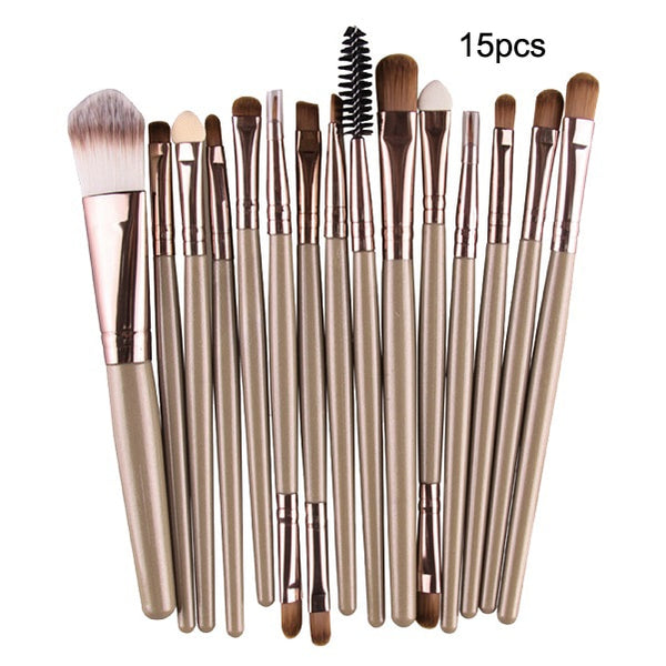 7/10/15pcs/kits Professional Nylon Makeup Brushes Set