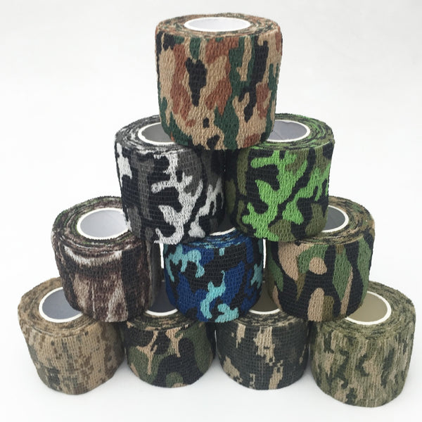 Army Camo Camouflage Elastic Tape Durable Disposable Waterproof