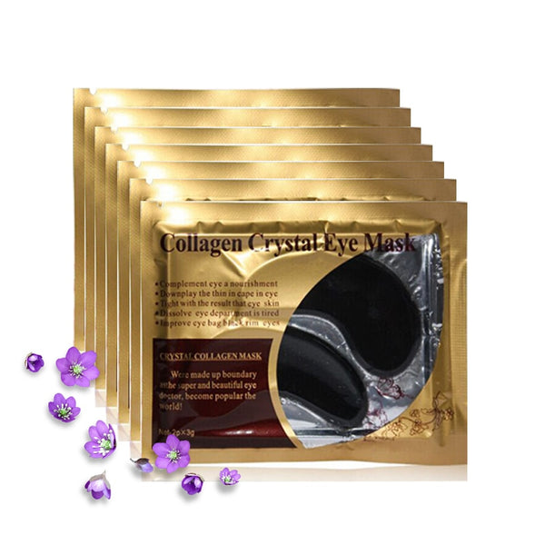 5pack=10pcs Black Eye Mask Crystal Gel