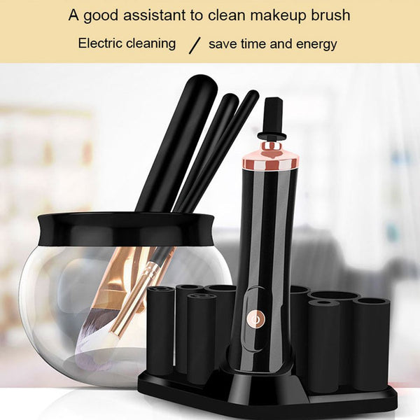Electric Makeup Brush Cleaner Cosmetic Dry Wash Cleaning Tools Kit Beauty Sets Black