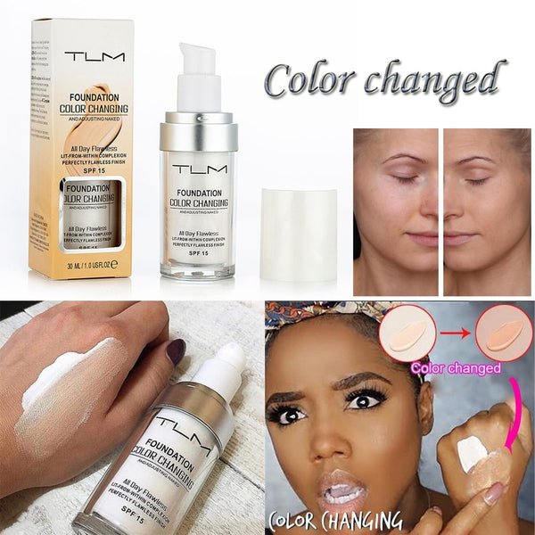 SALE Flawless Colour Changing Foundation Base Nude Face