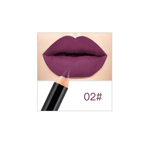 12 Colors Professional Lipliner Makeup Waterproof Lip Liner Pencil Set OA66