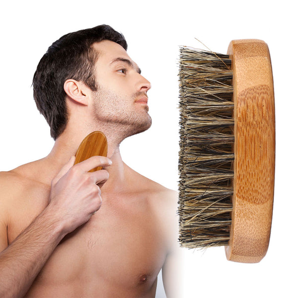 8cm Men Beard Brush Natural Boar Bristle Shaving
