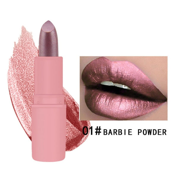 MK Waterproof Long Lasting Metallic Matte Lipstick 16 Colors