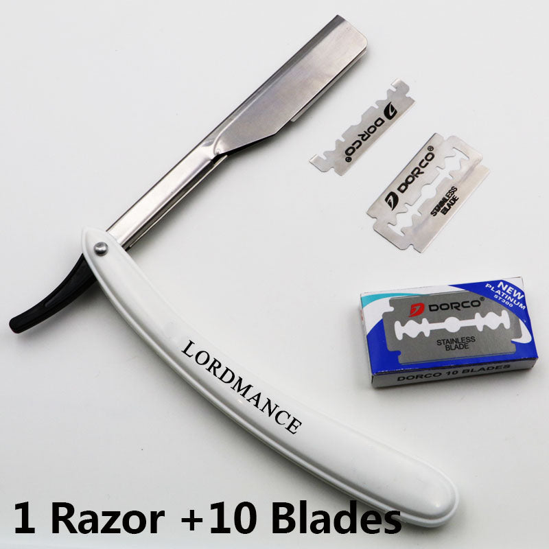 1set Men Straight Barber edge Razors