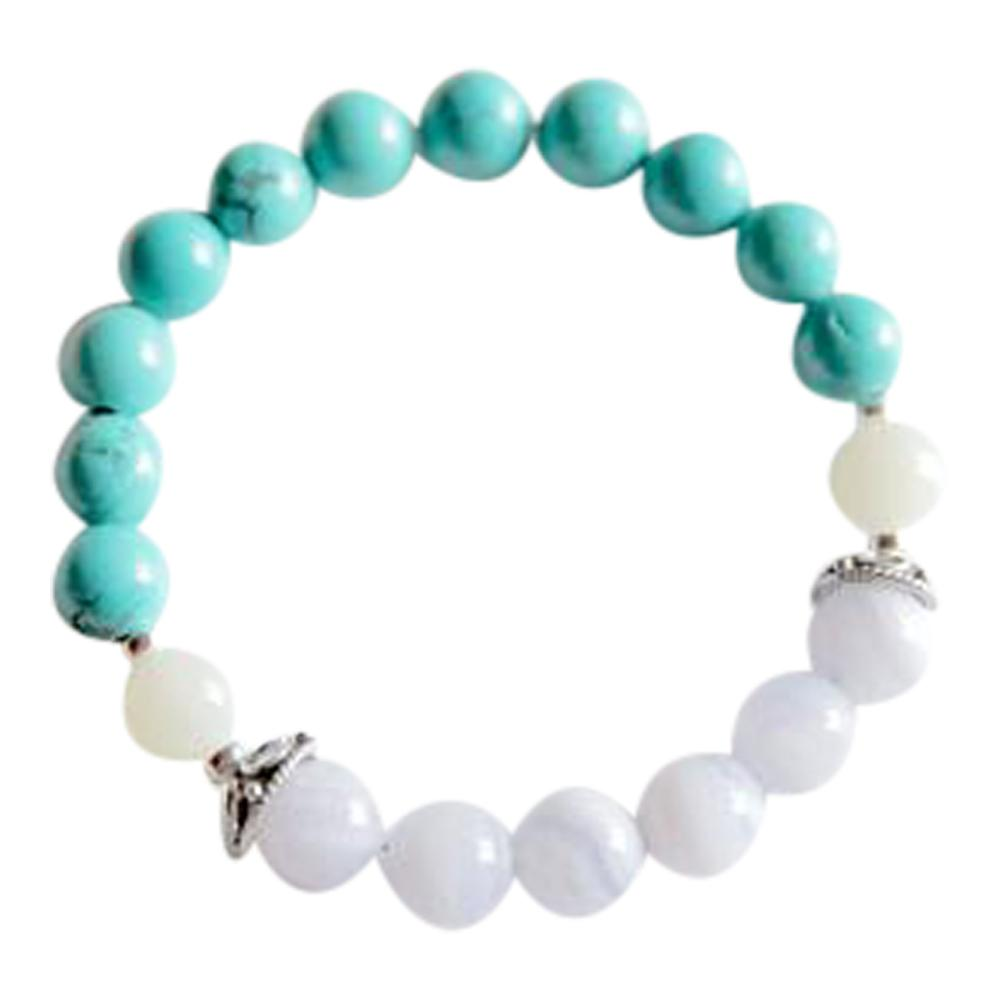 Sagittarius   Blue Lace Agate, Turquoise and Moonstone Sterling Silver Bracelet
