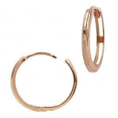 Beautiful 14k Rose Gold Simple Minimalist Hoop Earrings, Gold Earrings, Gift for Her, Gold Hoops, Minimalist Earrings, Hoops, Daily Jewelry