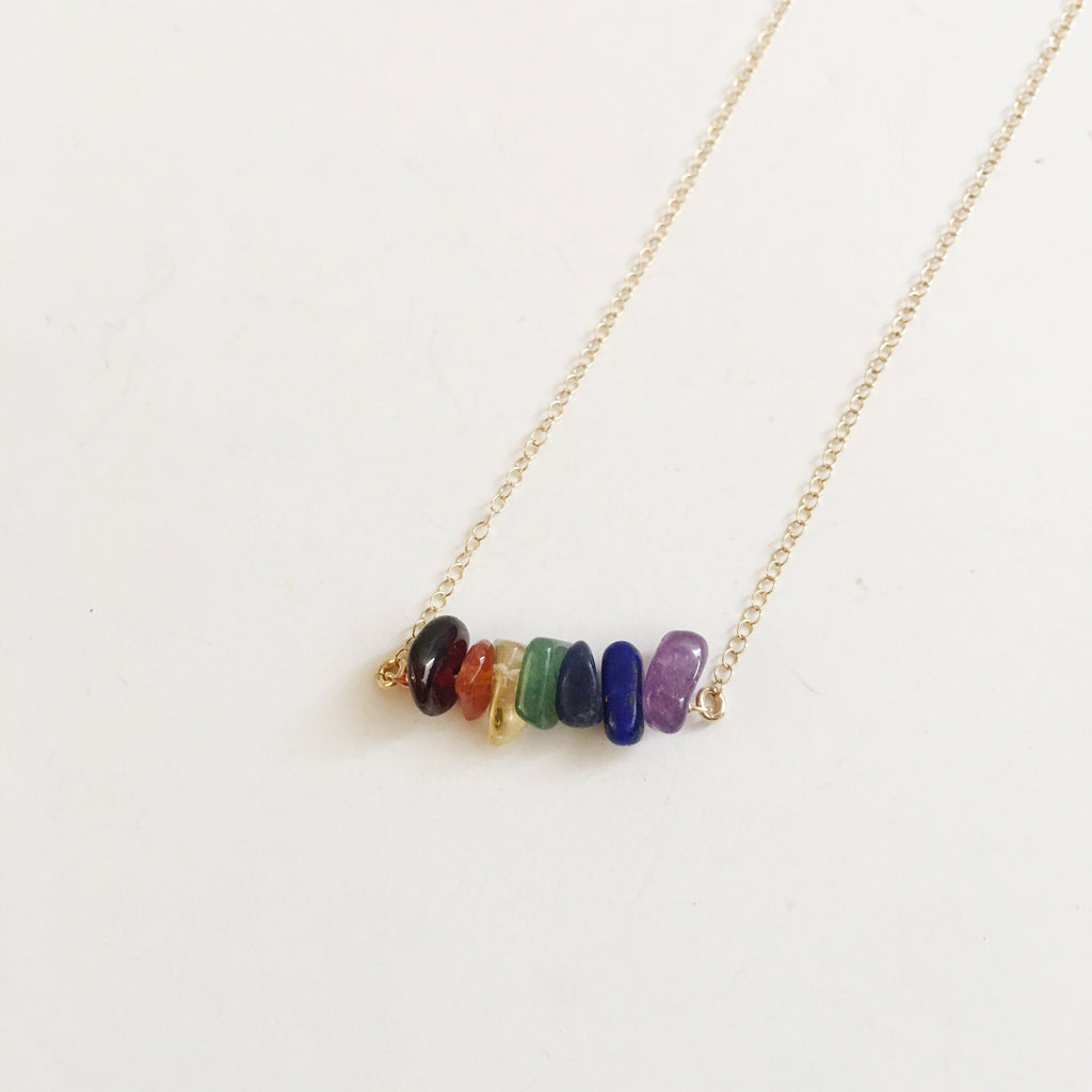 Balancing the 7 Chakras Gemstone Necklace