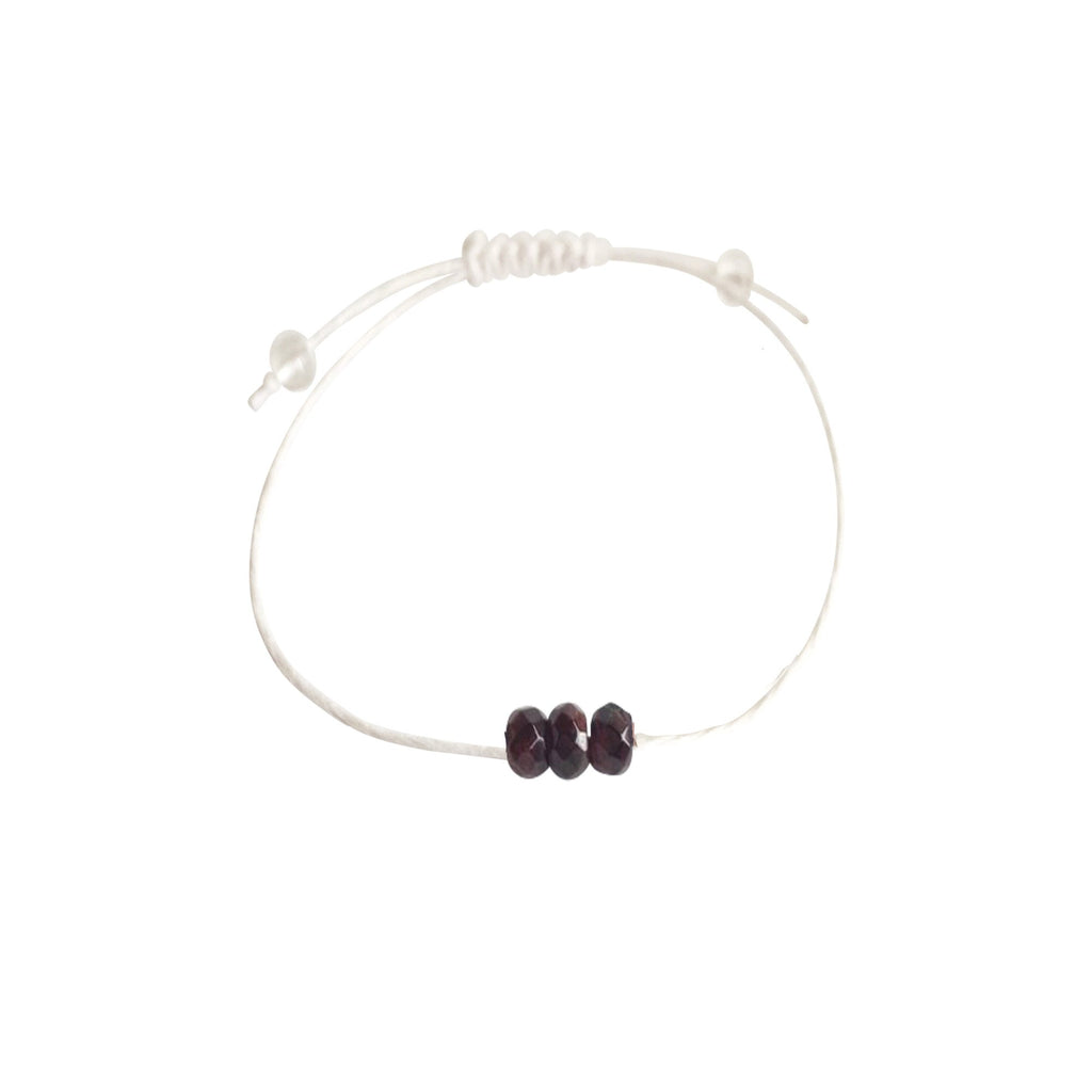 Garnet + Hemp + Choice of Anklet or Bracelet
