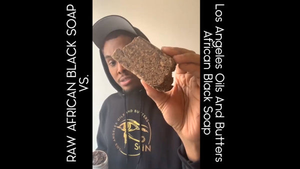 Raw African Black Soap VS. Los Angeles Oils And Butters African Black Soap