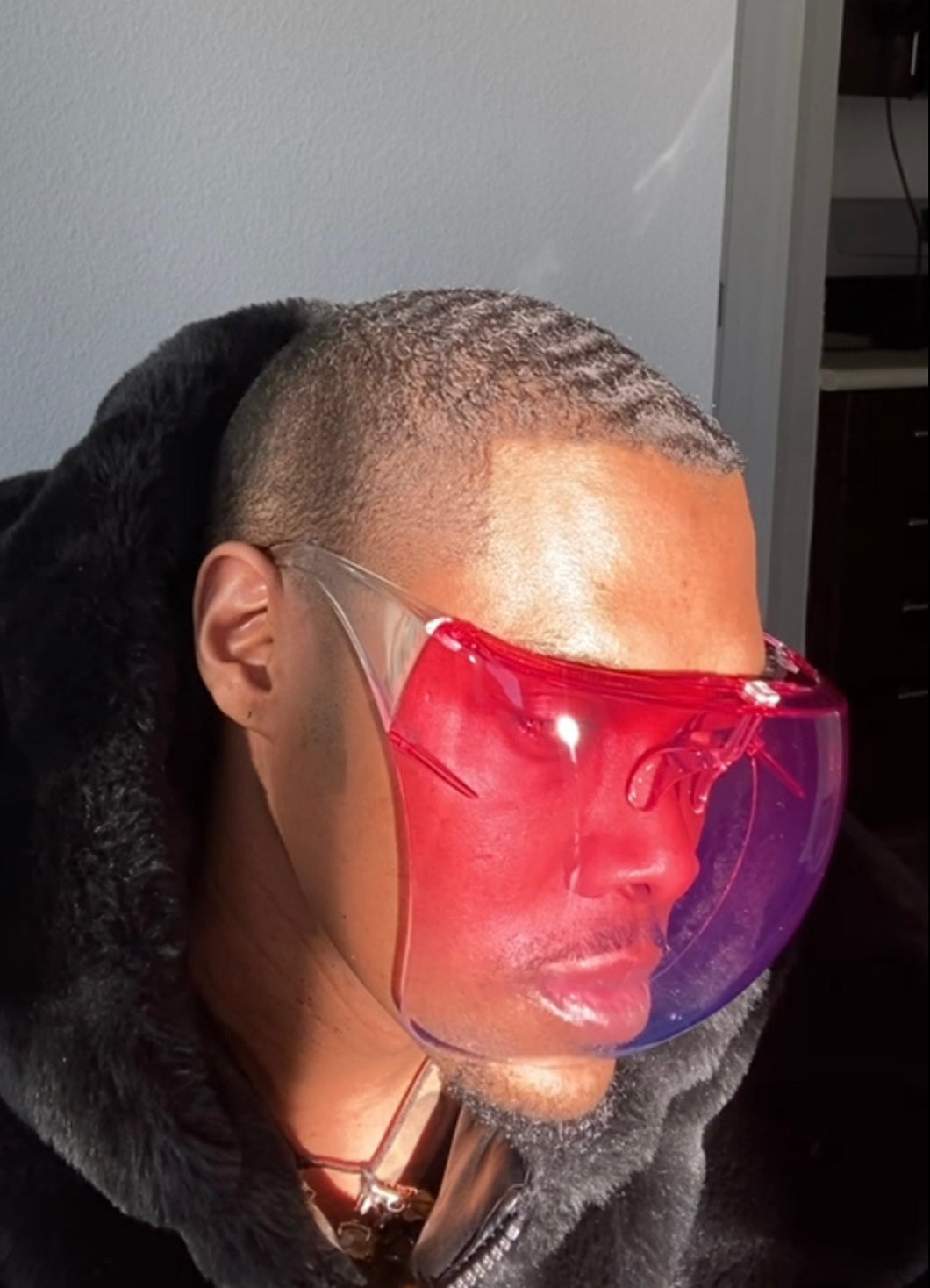 Red Ombré Face Shield