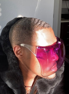 Purple Ombré Face Shield