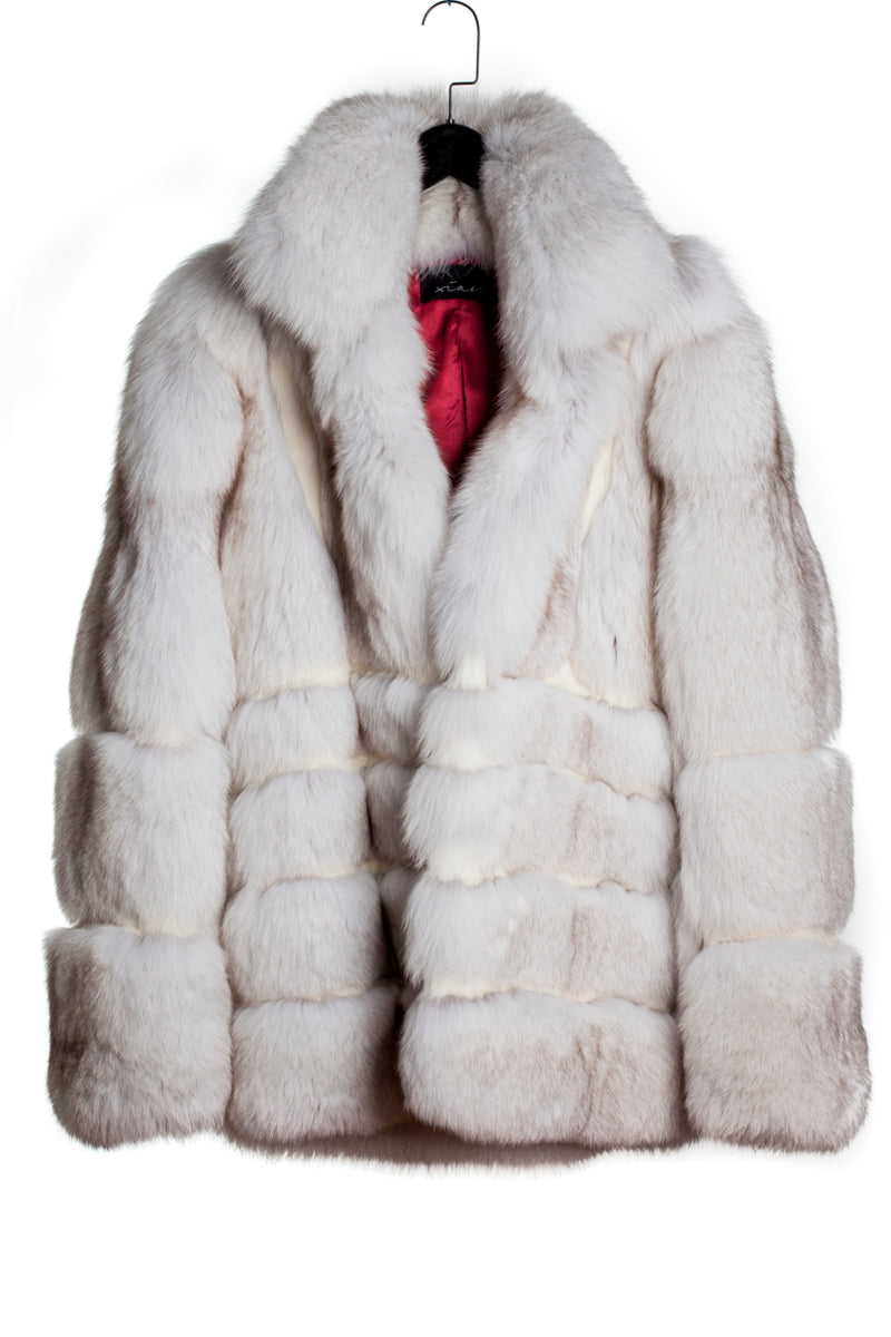 WHITE FOX FUR COAT