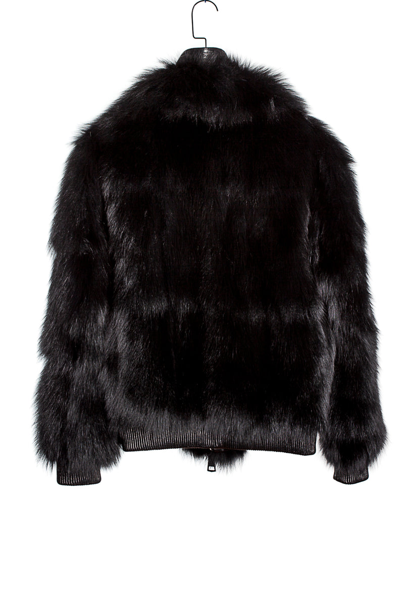 UP-CYCLED FUR JACKET