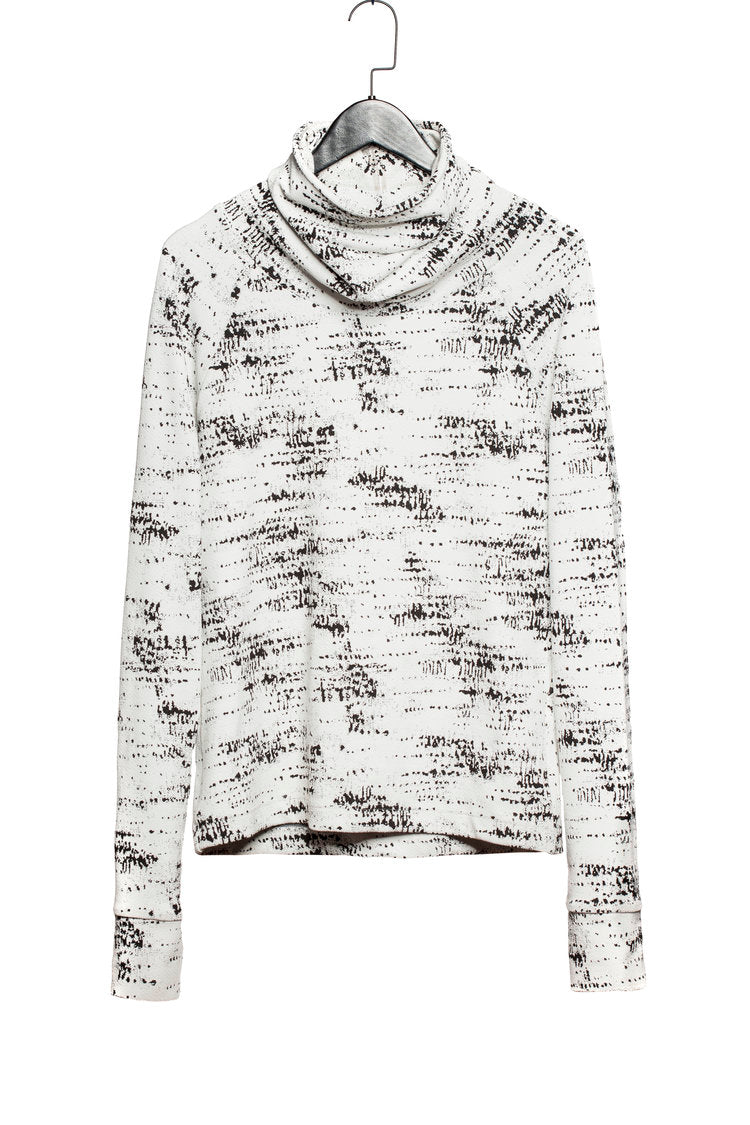 TEXTURED JACQUARD PULL-OVER SWEATER