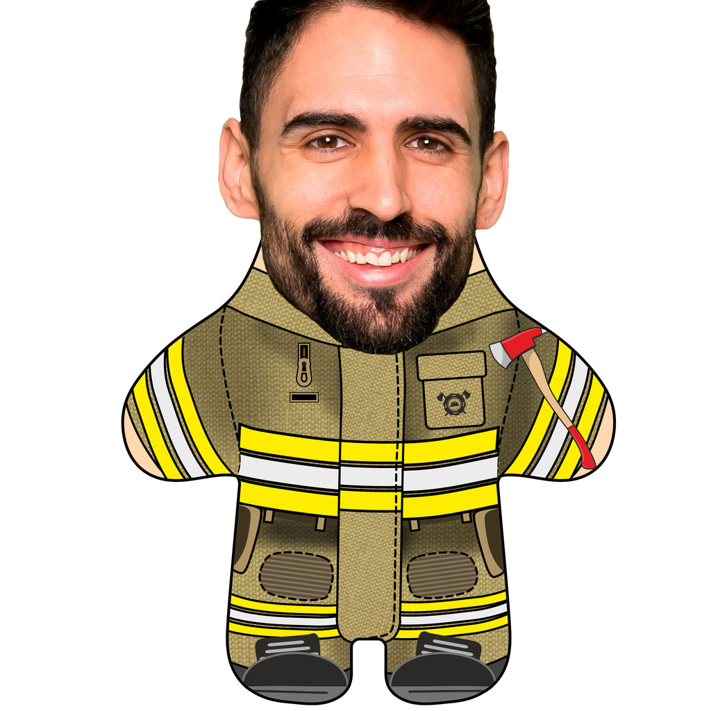 "Custom Face Body Pillow ""Fireman"""