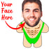 "Custom Face Body Pillow ""Mankini"""