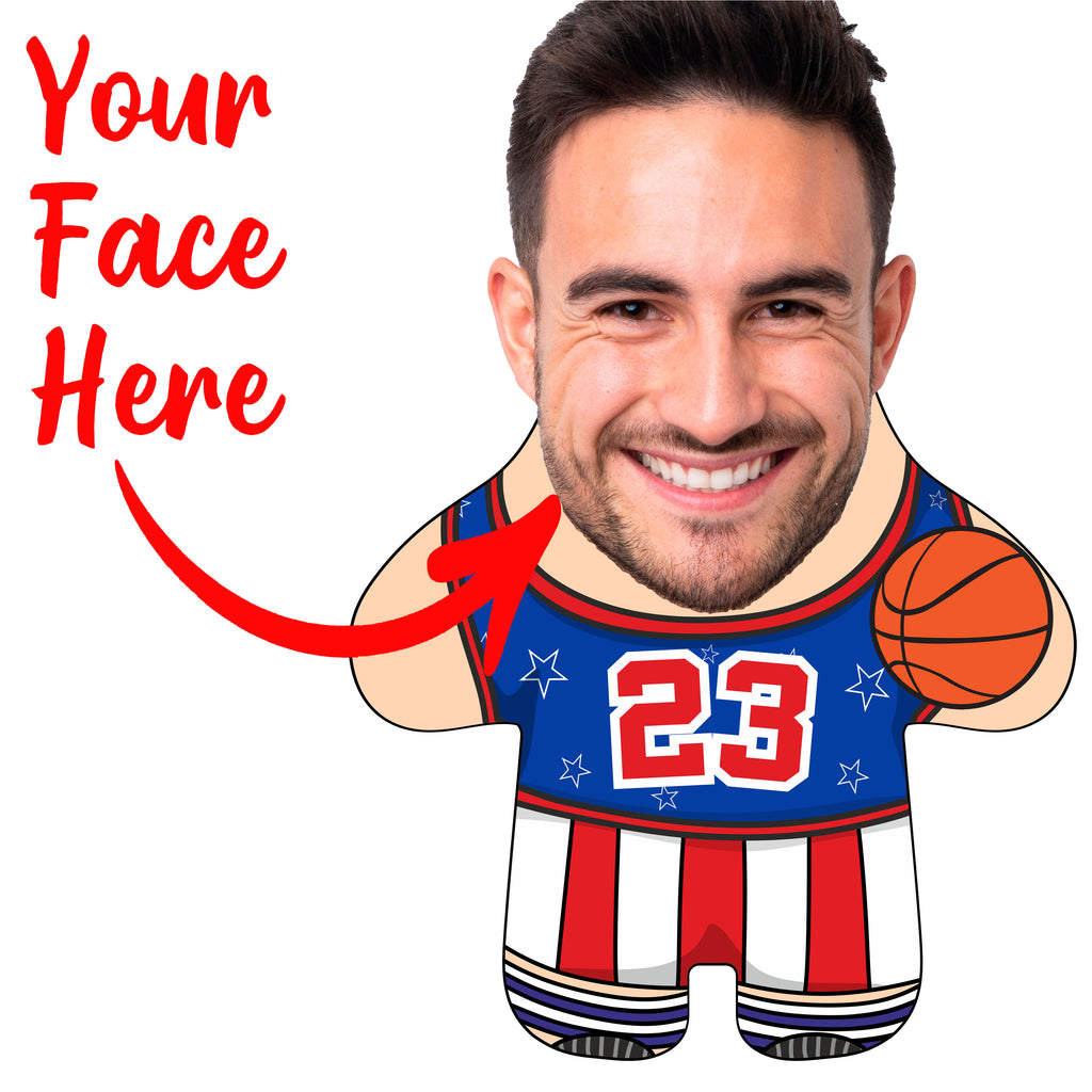 "Custom Face Body Pillow ""Basketball Player"""