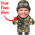 "Custom Face Body Pillow ""Army Combat"""