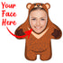 "Custom Face Body Pillow ""Mini Bear"""