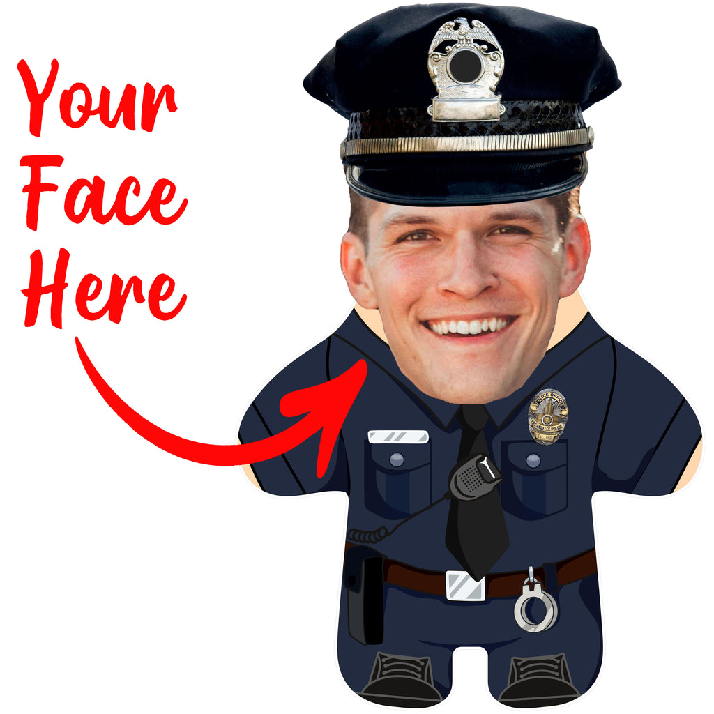 "Custom Face Body Pillow ""Police Officer"""