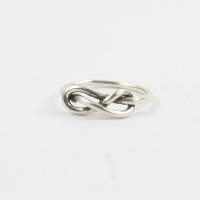 Handmade Solid Silver 925 Handmade 1.5mm Single Band Infinity Ring