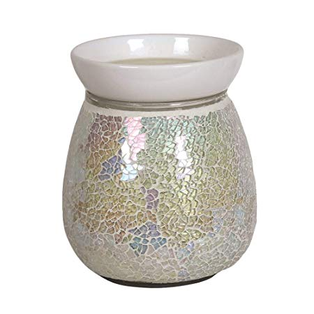 Pearl Crackle Electric Wax Warmer/Burner with pack of 10 Scented Melts