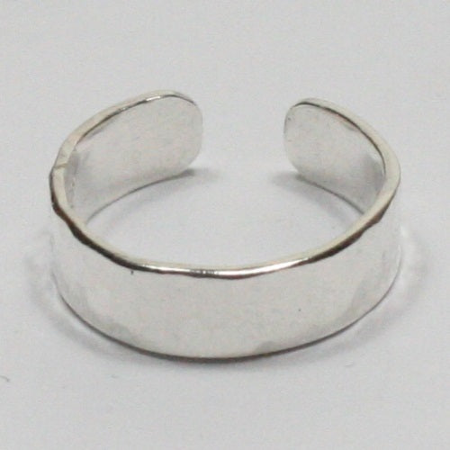 Solid Silver 925 Handmade Adjustable 1.5x5mm Toe Ring. Hallmarked