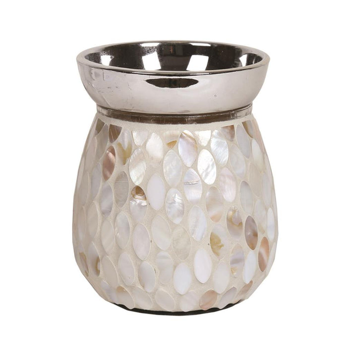 Mother of Pearl Electric Wax Warmer/Burner with a pack of 10 FREE Scented Melts (3151)