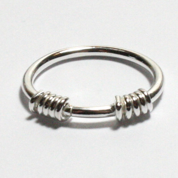 Solid Silver 925 Handmade 1.8mm Wrapped Ring