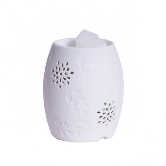 Floral Electric Wax Warmer/Burner with a pack of 10 FREE Scented Melts (3088)