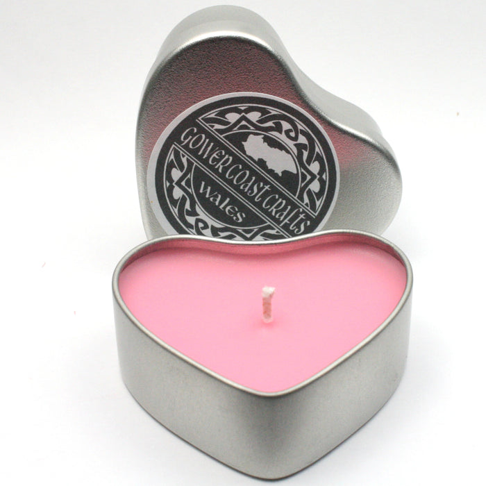 Valentine Heart Fairy Dust Scent Handpoured Highly Scented Candle in a Tin