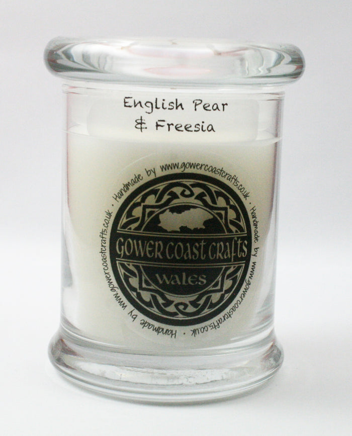 English Pear & Freesia Handpoured Highly Scented Medium Candle Jar