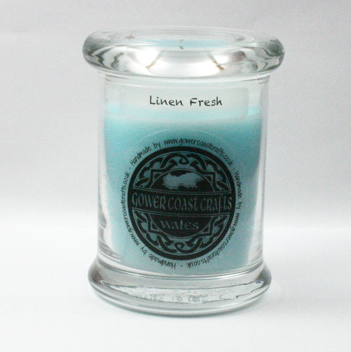 Zoflo Linen Fresh Handpoured Highly Scented Medium Candle Jar