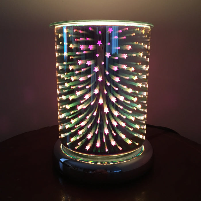 3D Cylinder Shooting Star Electric Wax Warmer/Burner with a pack of 10 FREE Scented Melts (3126)